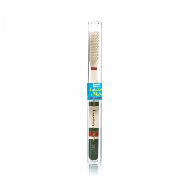 Зубная щетка Piave широкая, цвет зеленый