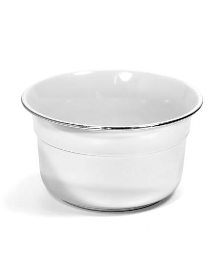 Чаша для бритья Omega белый пластик с хромом