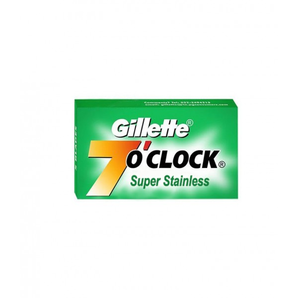 Сменные лезвия Gillette 7 O'Clock Super Stainless 5 шт
